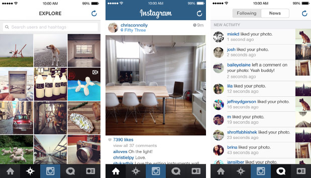 Image result for instagram user interface