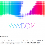 Apple's WWDC 2014 lottery winners have been notified